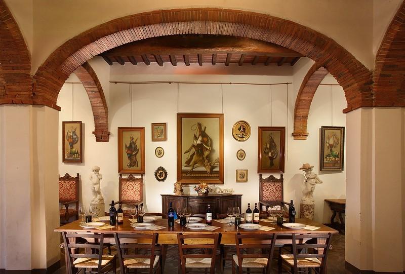 chianti wine tasting room fattoria montecchio