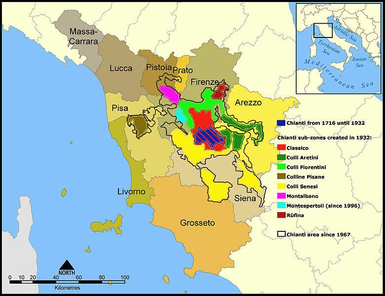 Chianti area map