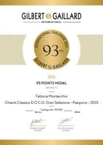 gilbert gaillard 2021 Chianti classico pasquino 2015